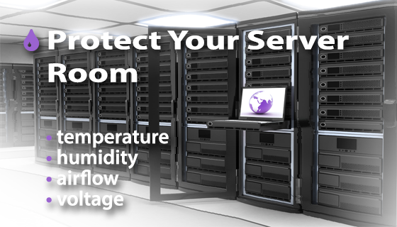 Server Room Design : Temperature monitoring in server rooms and data centers