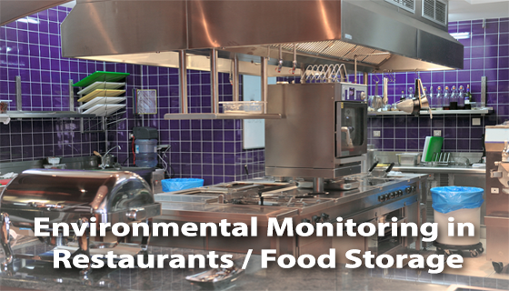 Restaurant Kitchen Storage restaurant and food storage temperature monitoring - enviromon